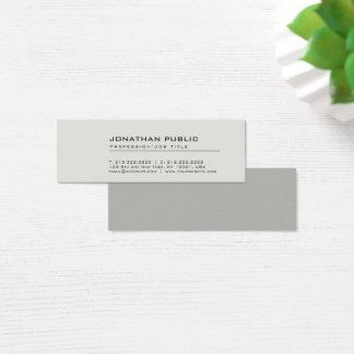 Cartão De Visitas Mini Planície cinzenta elegante criativa moderna