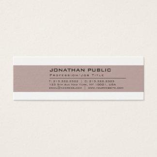Cartão De Visitas Mini Planície criativa profissional da cor elegante do