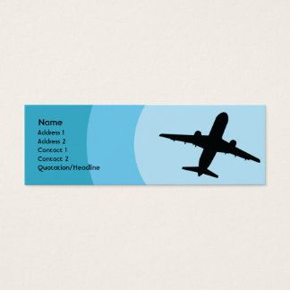 Cartão De Visitas Mini Plano - magro