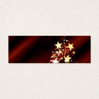 Cartão De Visitas Mini Poinsétia da árvore de Natal do Natal da estrela