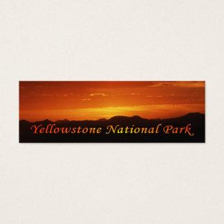 Cartão De Visitas Mini Por do sol de Mt. Washburn