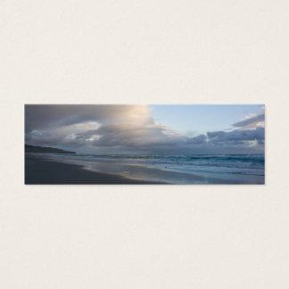 Cartão De Visitas Mini Praia de Dunedin no crepúsculo DSC6544