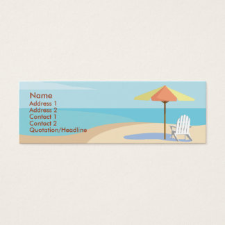 Cartão De Visitas Mini Praia - magro