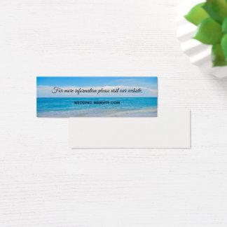 Cartão De Visitas Mini Praia tropical azul bonita