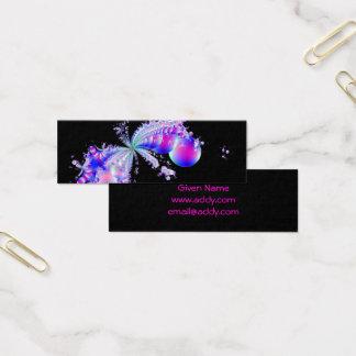 Cartão De Visitas Mini Preto da arte do Fractal do respingo