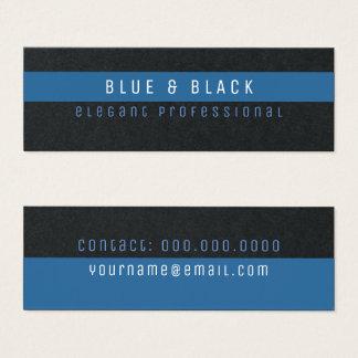 Cartão De Visitas Mini pro prêmio elegante azul & preto