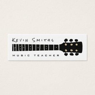 Cartão De Visitas Mini professor preto/do branco música legal e moderna
