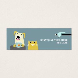 Cartão De Visitas Mini Profissional dos cuidados dos animais de estimação