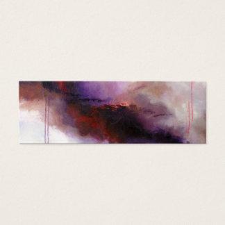Cartão De Visitas Mini Profundamente - abstrato moderno roxo (arte de
