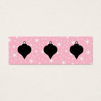 Cartão De Visitas Mini Projeto cor-de-rosa, preto e branco do Natal