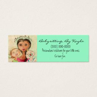 Cartão De Visitas Mini Puericultura/cartão Babysitting