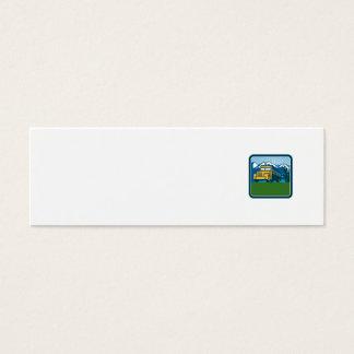 Cartão De Visitas Mini Quadrado das montanhas do cacto do auto escolar