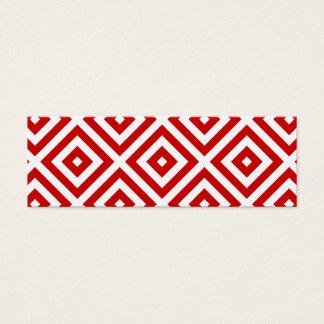Cartão De Visitas Mini Quadrados vermelhos e brancos da avó