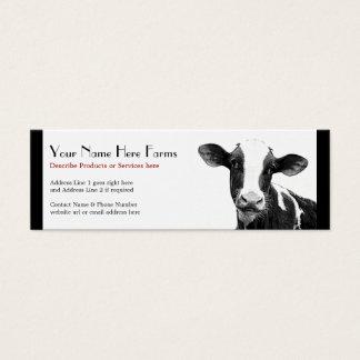 Cartão De Visitas Mini Rancho de gado da leiteria ou do Holstein