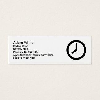 Cartão De Visitas Mini Relógio de ponto