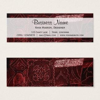 Cartão De Visitas Mini Retalhos, flores, pétalas, redemoinhos - vermelho