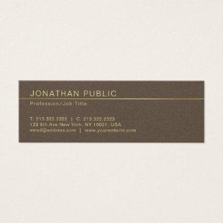 Cartão De Visitas Mini Revestimento criativo elegante profissional da