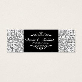 Cartão De Visitas Mini Rico relativo à promoção artístico elegante do