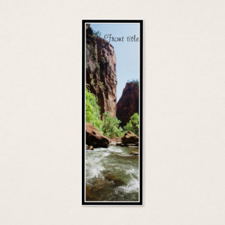 Cartão De Visitas Mini Rio do Virgin no parque nacional de Zion
