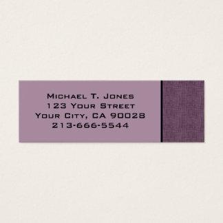 Cartão De Visitas Mini risco moderno