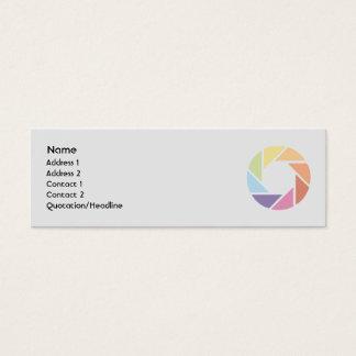 Cartão De Visitas Mini Roda de cor - magro