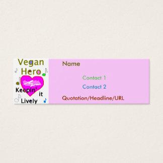 Cartão De Visitas Mini Rosa do herói do Vegan