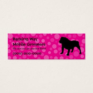 Cartão De Visitas Mini Rosa dos cuidados dos animais de estimação do