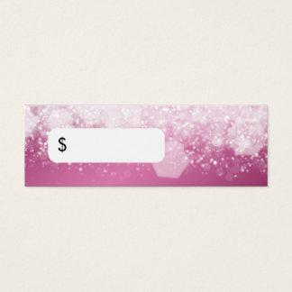 Cartão De Visitas Mini Rosa Sparkling da noite do preço profissional