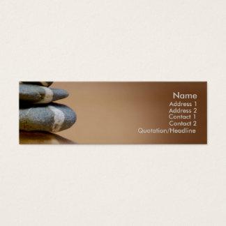 Cartão De Visitas Mini Seixos equilibrados