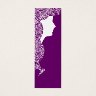 Cartão De Visitas Mini Senhora - mini marcador da cor feita sob encomenda