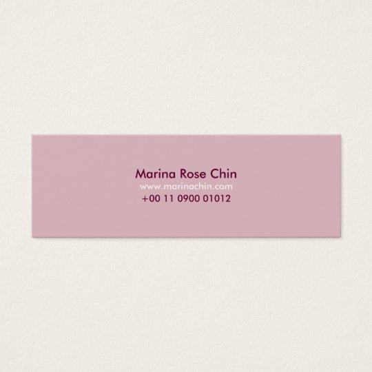 Cartão De Visitas Mini Slim Pink Business Card