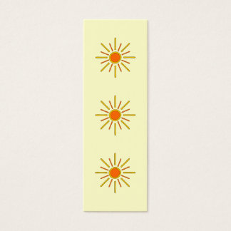 Cartão De Visitas Mini Sol do verão. Amarelo e laranja