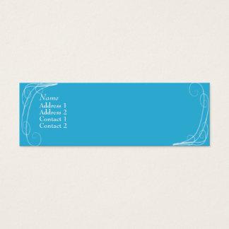Cartão De Visitas Mini Squiggles azuis - magros