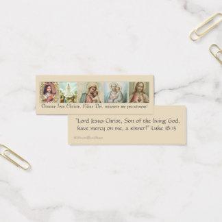 Cartão De Visitas Mini St Joseph, coração sagrado, Mary, Fatima, Therese