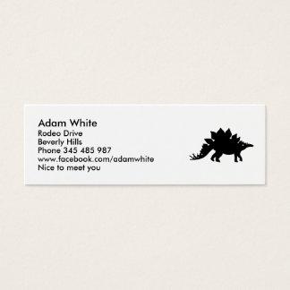 Cartão De Visitas Mini Stegosaurus do dinossauro