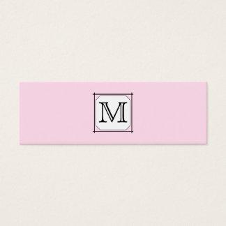Cartão De Visitas Mini Sua letra. Monograma feito sob encomenda. Branco