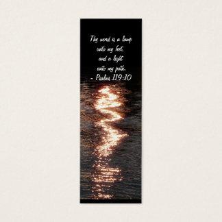 Cartão De Visitas Mini Sua palavra é uma lâmpada. - Marcador