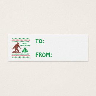 Cartão De Visitas Mini Tag de passeio do presente do Natal de Z Bigfoot