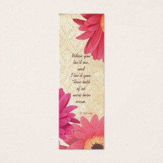 Cartão De Visitas Mini Tag do casamento da margarida de Gerber do damasco
