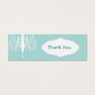 Cartão De Visitas Mini Tag do favor do candelabro