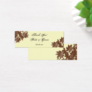 Cartão De Visitas Mini Tag do favor do casamento do selo da folha da