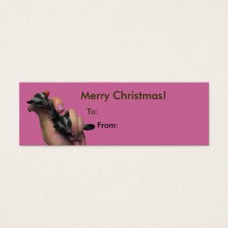 Cartão De Visitas Mini Tag do Feliz Natal dos planadores do açúcar do