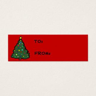 Cartão De Visitas Mini Tag do presente da árvore de Natal