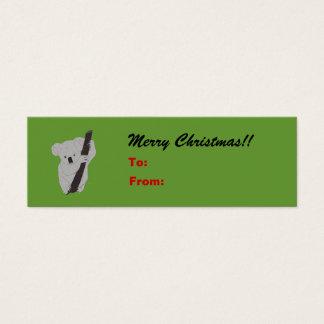 Cartão De Visitas Mini Tag do presente de época natalícia do Feliz Natal