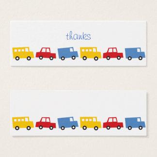 Cartão De Visitas Mini Tag do presente do aniversário DIY do ônibus do