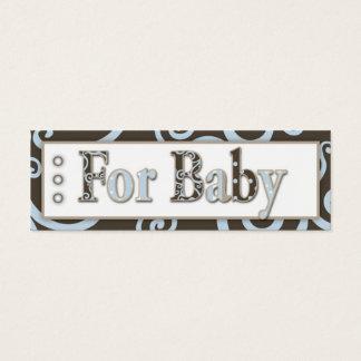 Cartão De Visitas Mini Tag do presente do bebé do cavalo marinho