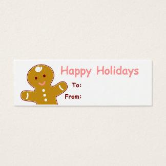 Cartão De Visitas Mini Tag do presente do homem de pão-de-espécie