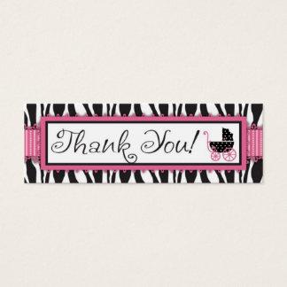Cartão De Visitas Mini Tag do presente do impressão da zebra & da