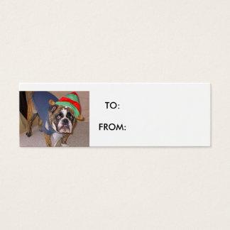Cartão De Visitas Mini TAG do PRESENTE do sASSYDOG