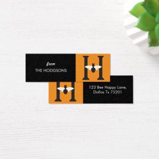 Cartão De Visitas Mini Tag feitos sob encomenda magros felizes do